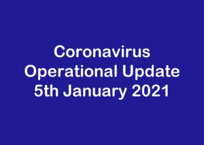 Operational Update for Coronavirus COVID 19 & Prospec